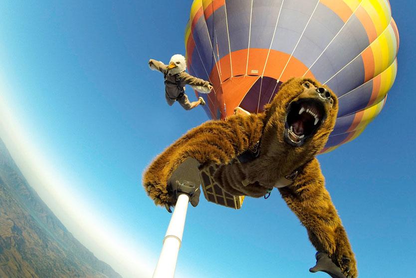 Social media GoPro Balloon Sky