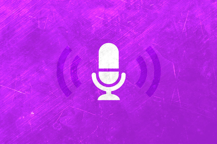Podcast microphone sound