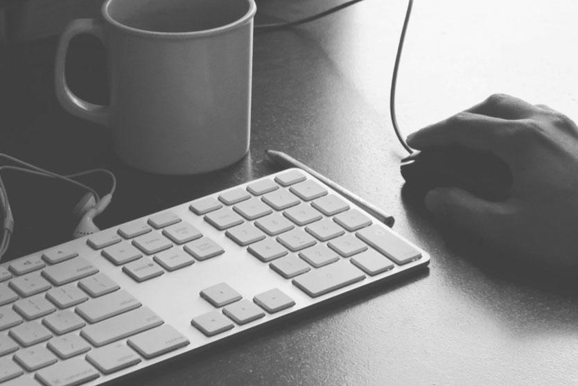 Successful Blog Keyboard Coffee