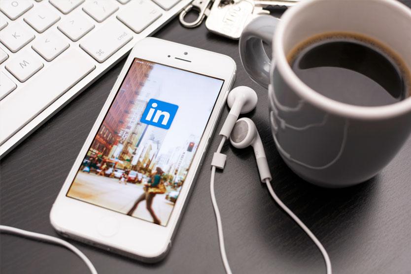 LinkedIn iPhone Coffee Mug